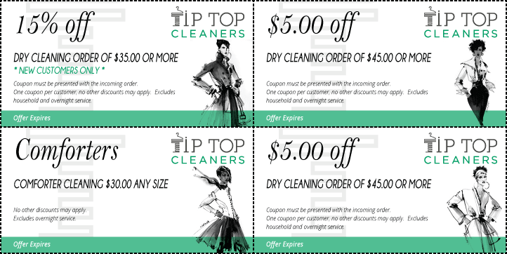 Preview of our current set of Coupons offered to Customers.