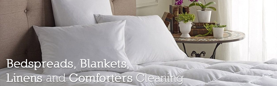 Bedspreads, Blankets, Linens and Comforters Cleaning